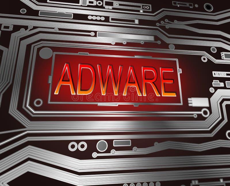 Conceito do Adware. ilustração do vetor