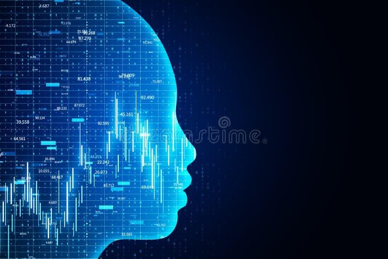 Conceito do AI e do stats ilustração do vetor