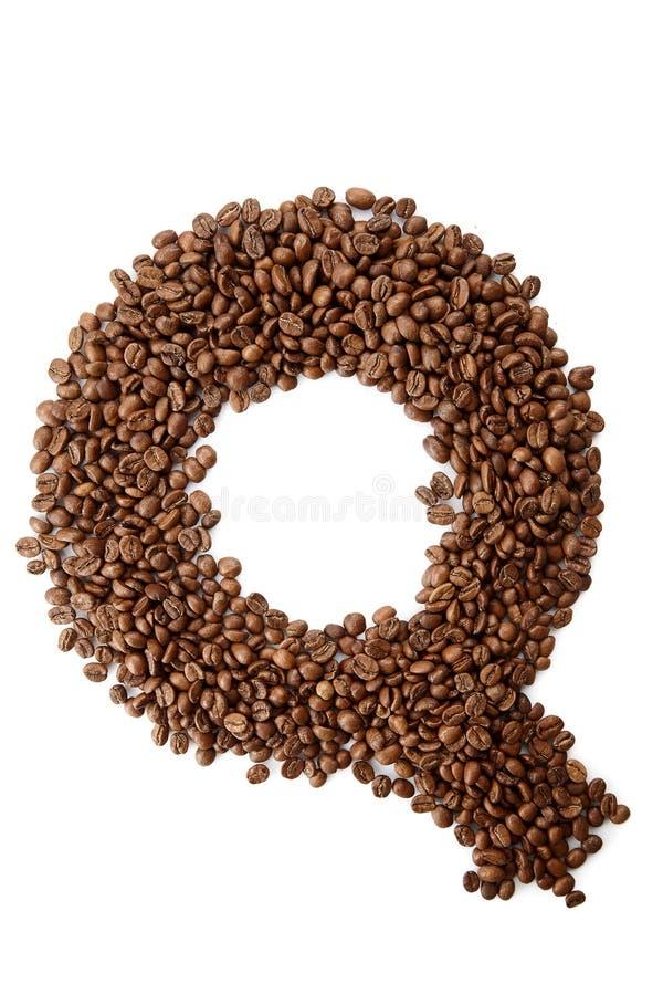 Conceito do alfabeto da fonte do café isolado no fundo branco imagem de stock royalty free