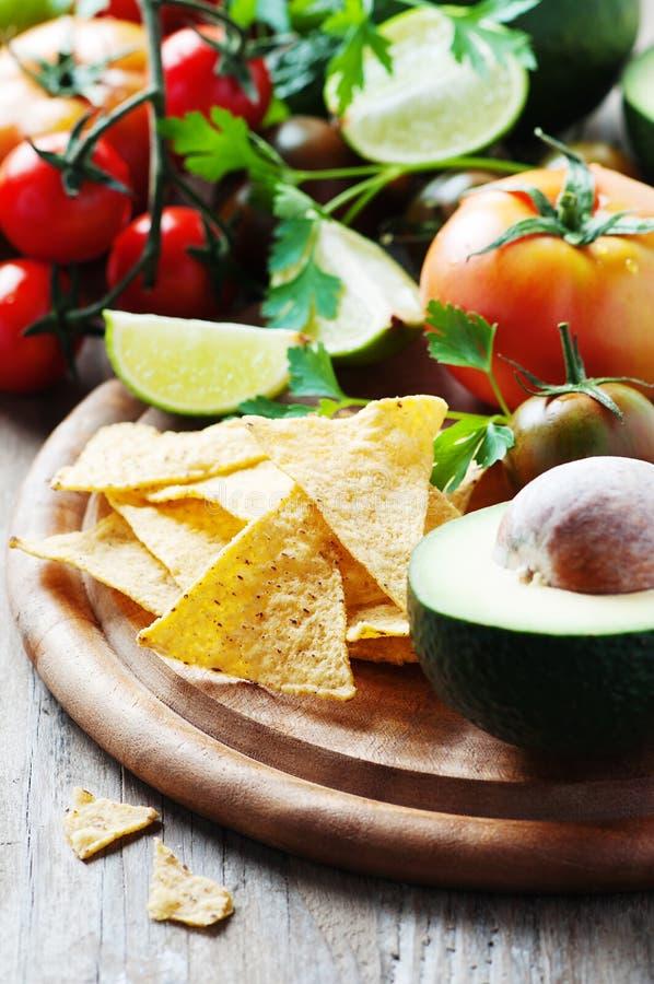 Conceito do alimento mexicano com vegetais crus fotografia de stock royalty free