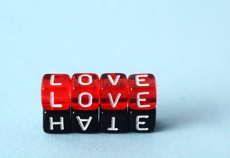 Conceito do amor e do ódio fotografia de stock royalty free