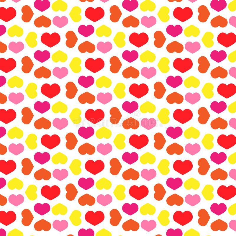 Conceito do amor - ilustração do papel de parede do teste padrão dos corações ilustração do vetor