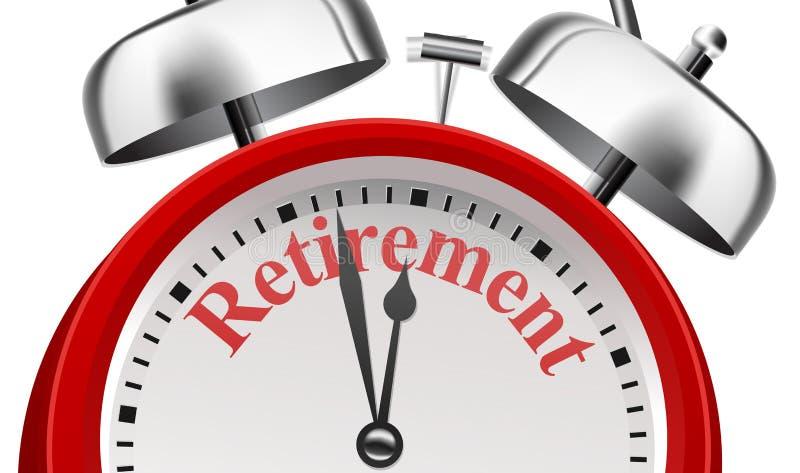 Conceito do anúncio do planeamento de aposentação ilustração do vetor