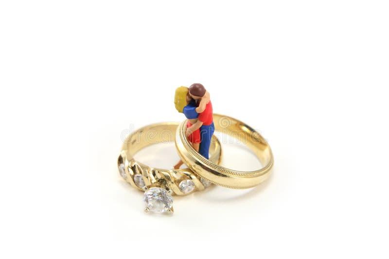 Conceito do anel de casamento fotografia de stock