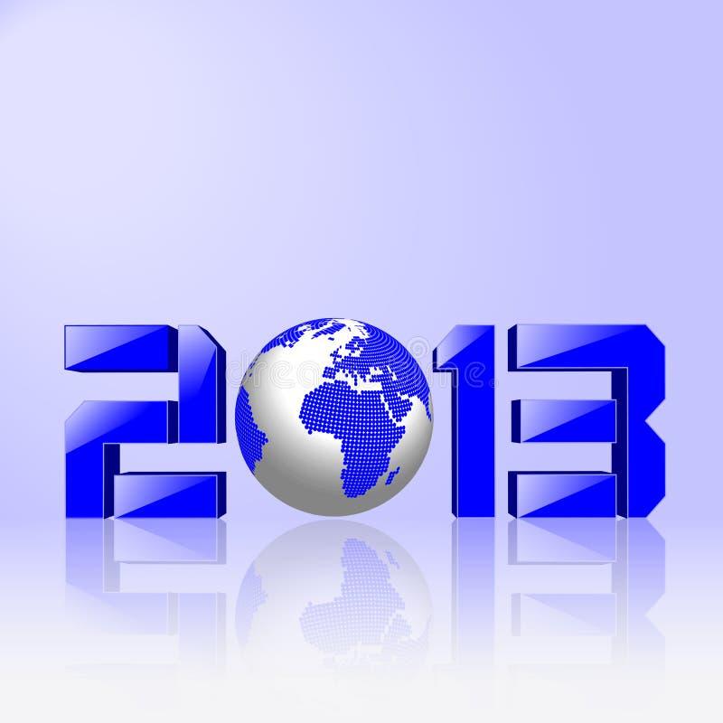 Conceito do ano 2013 novo ilustração stock