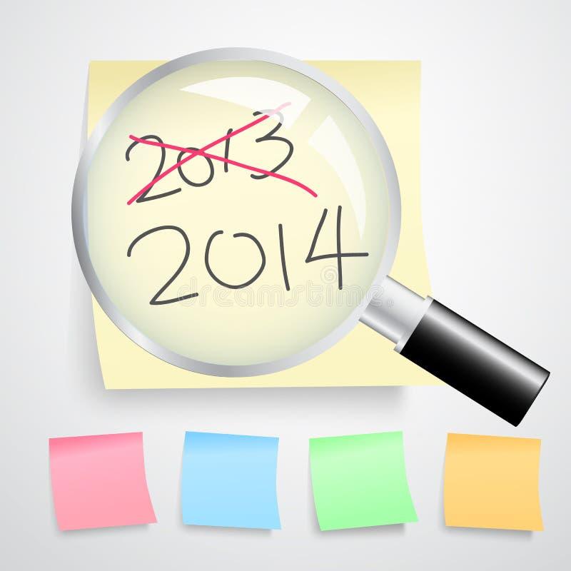 Conceito do ano novo ilustração do vetor