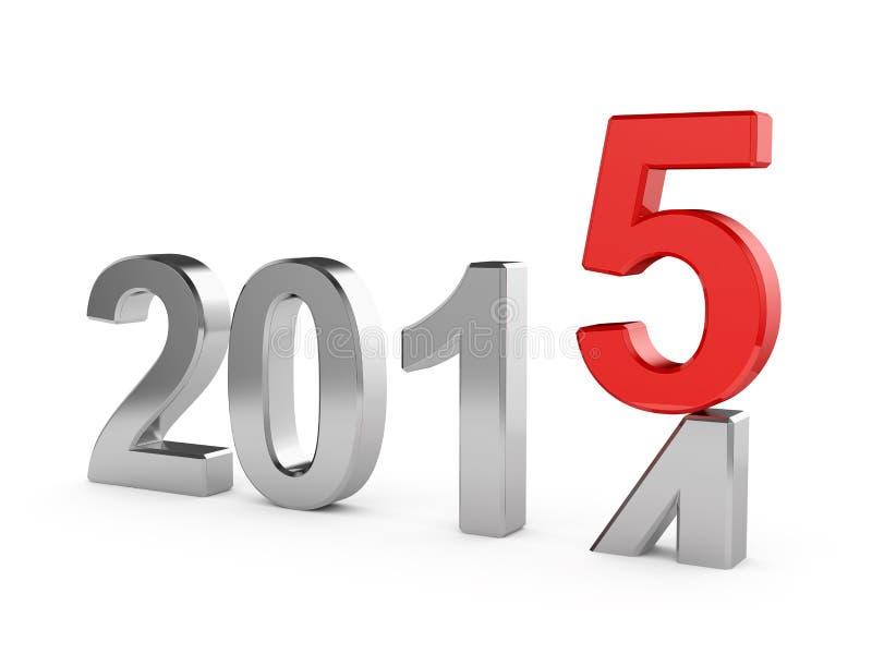 Conceito do ano 2015 novo ilustração do vetor
