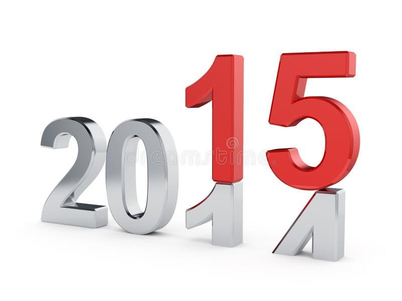 Conceito do ano 2015 novo ilustração stock