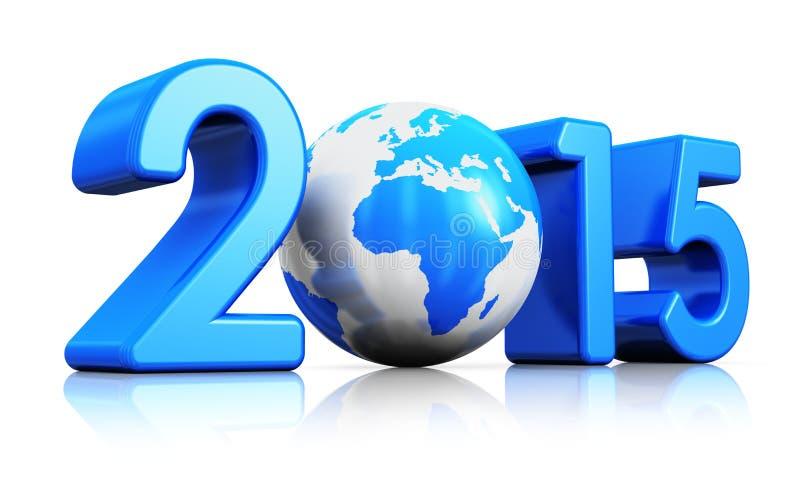 Conceito 2015 do ano novo ilustração royalty free