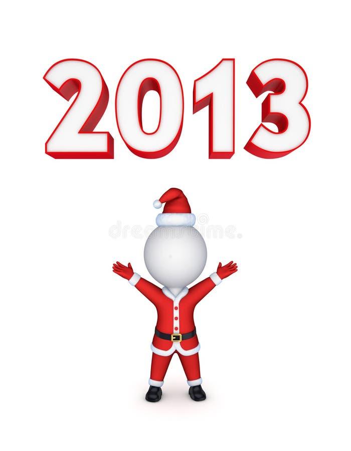 Conceito do ano novo. ilustração do vetor