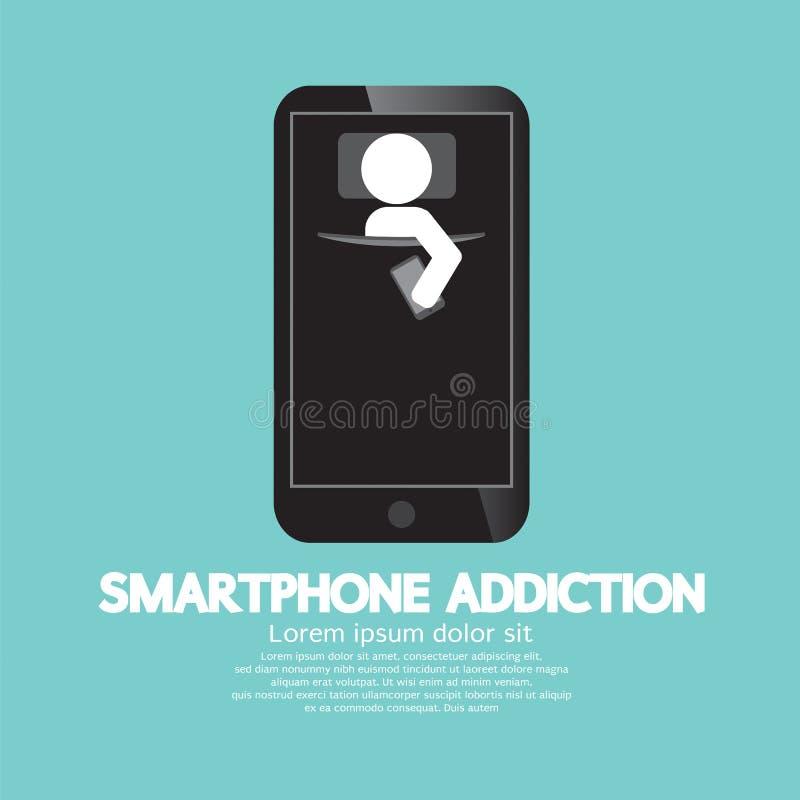 Conceito do apego de Smartphone ilustração royalty free