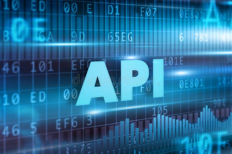 Conceito do API ilustração royalty free