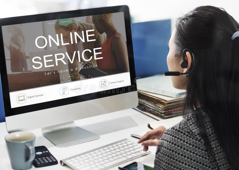 Conceito do apoio da informação do apoio do serviço de informações imagem de stock royalty free