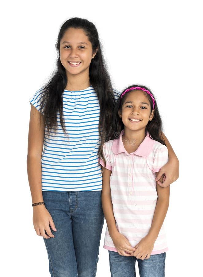 Conceito do apoio de Children Enjoyment Kid da irmã fotos de stock royalty free