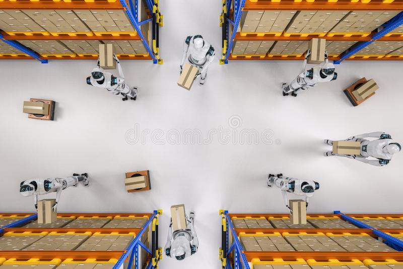 Conceito do armazém da automatização