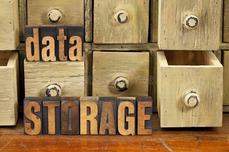 Conceito do armazenamento de dados  imagens de stock
