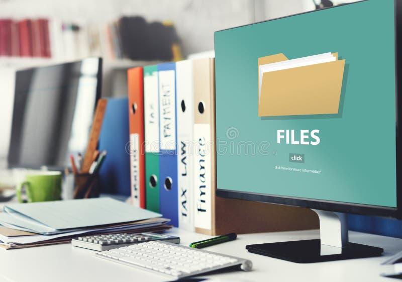 Conceito do armazenamento do original dos dados do dobrador de arquivos ilustração royalty free