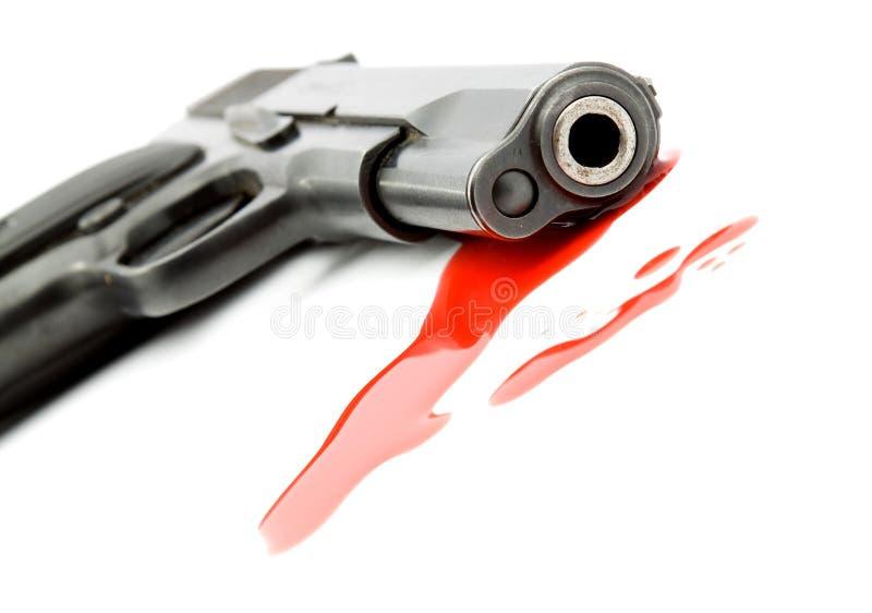 Conceito do assassinato - injetor e sangue fotos de stock royalty free