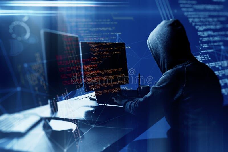 Conceito do ataque e da programação imagem de stock