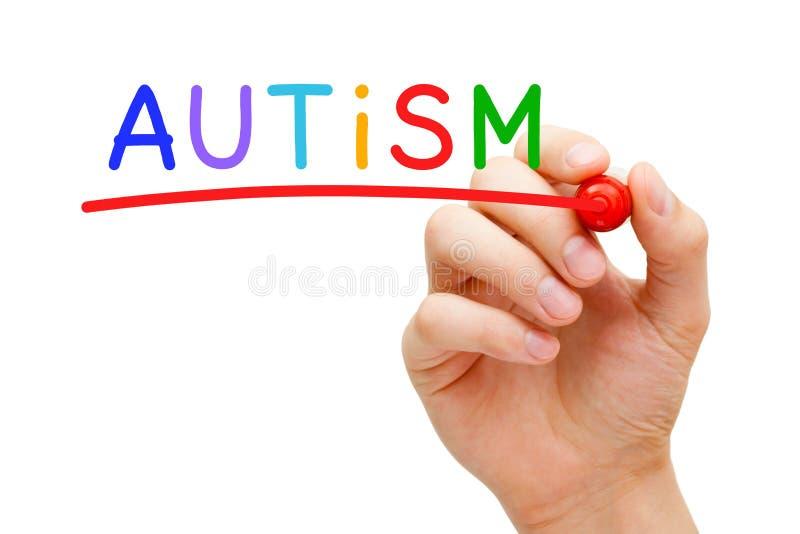 Conceito do autismo imagem de stock