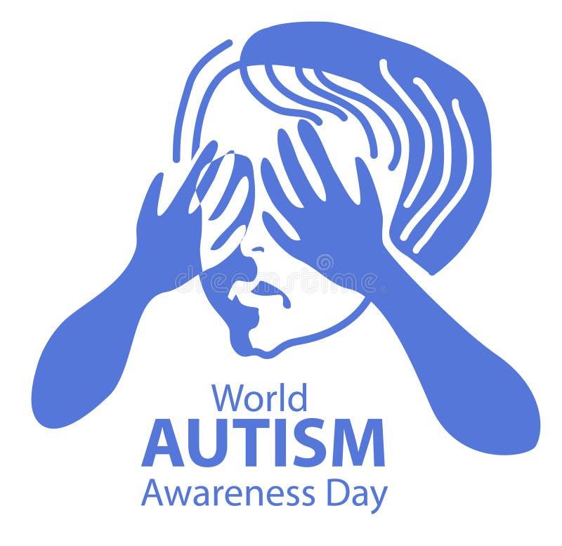 Conceito do autismo ilustração royalty free