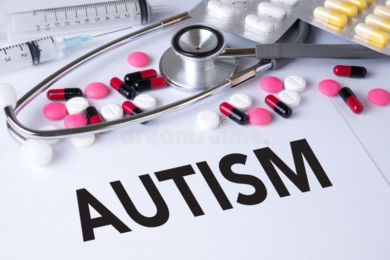 Conceito do autismo fotografia de stock