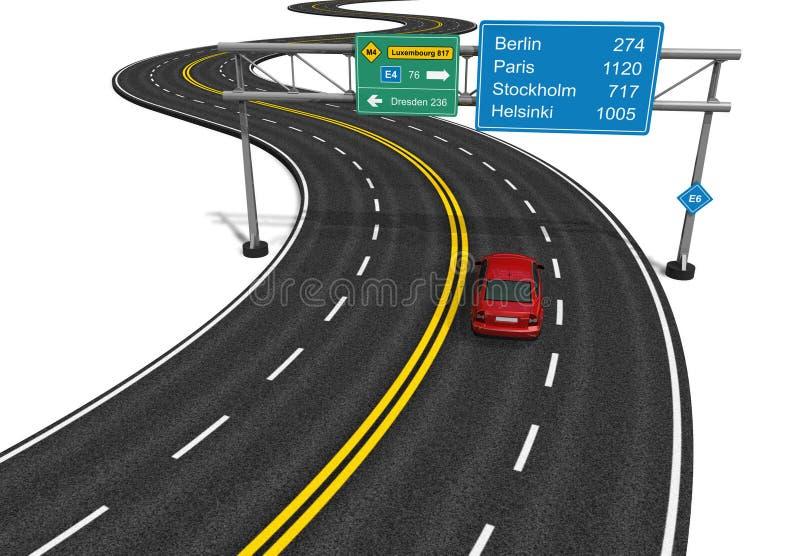 Conceito do Autobahn ilustração do vetor