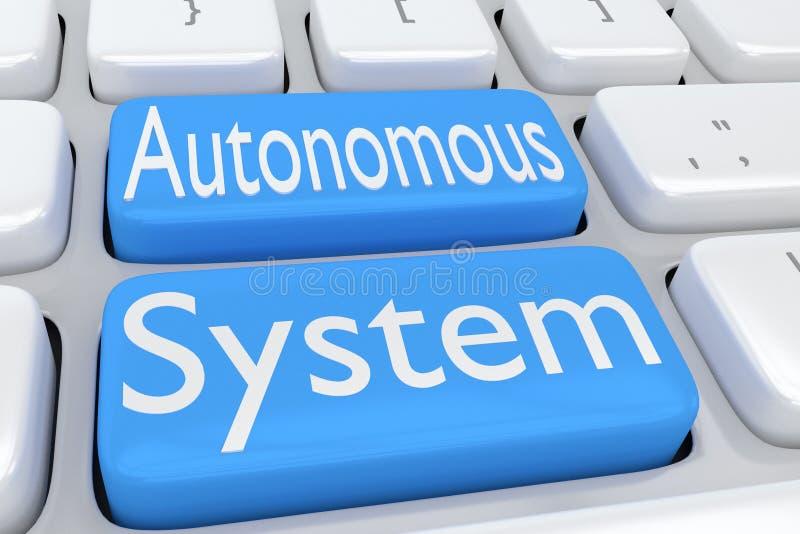 Conceito do Autonomous System ilustração do vetor