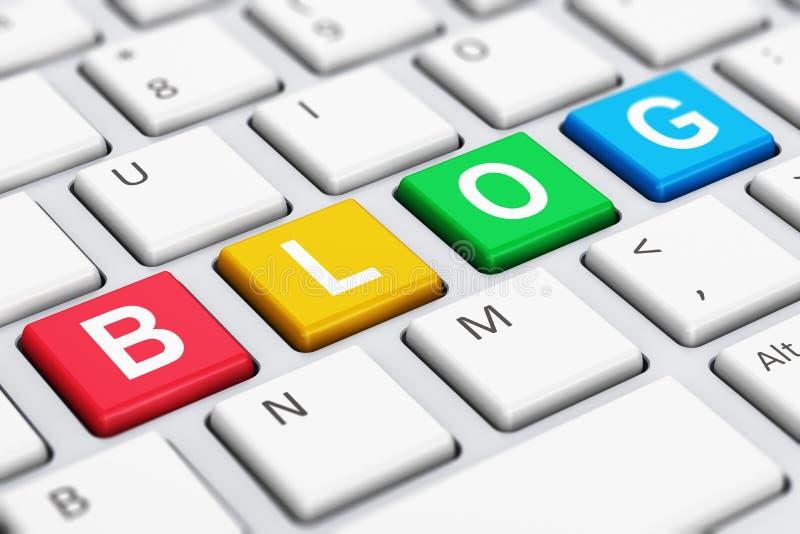 Conceito do blogue do Internet ilustração do vetor