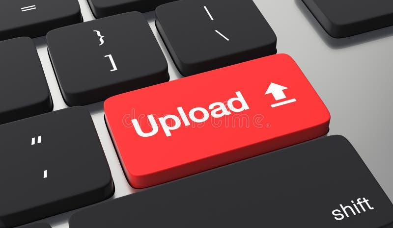 Conceito do botão da transferência de arquivo pela rede ilustração stock