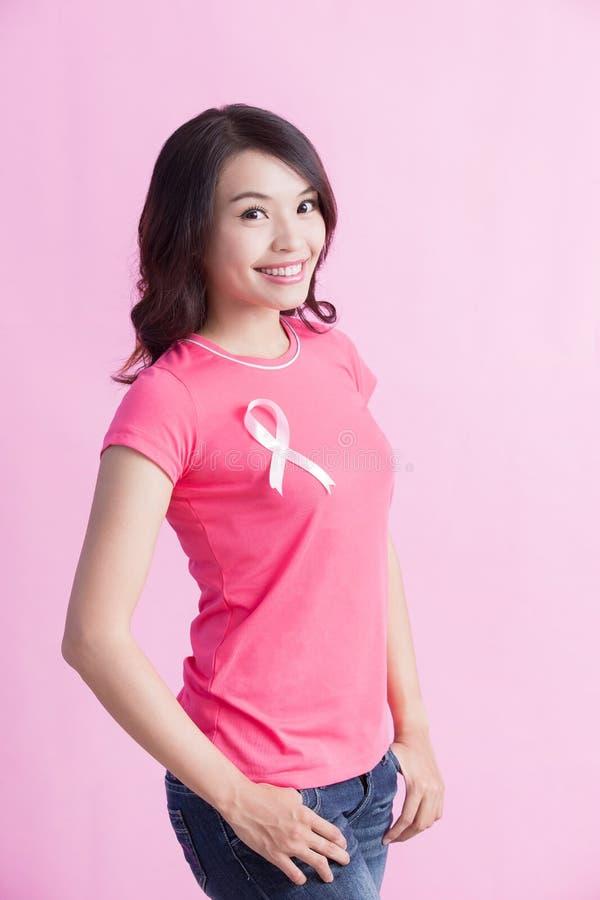 Conceito do câncer da mama da prevenção fotografia de stock royalty free