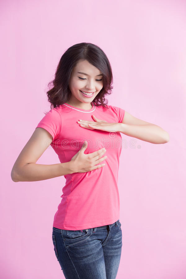 Conceito do câncer da mama da prevenção imagens de stock