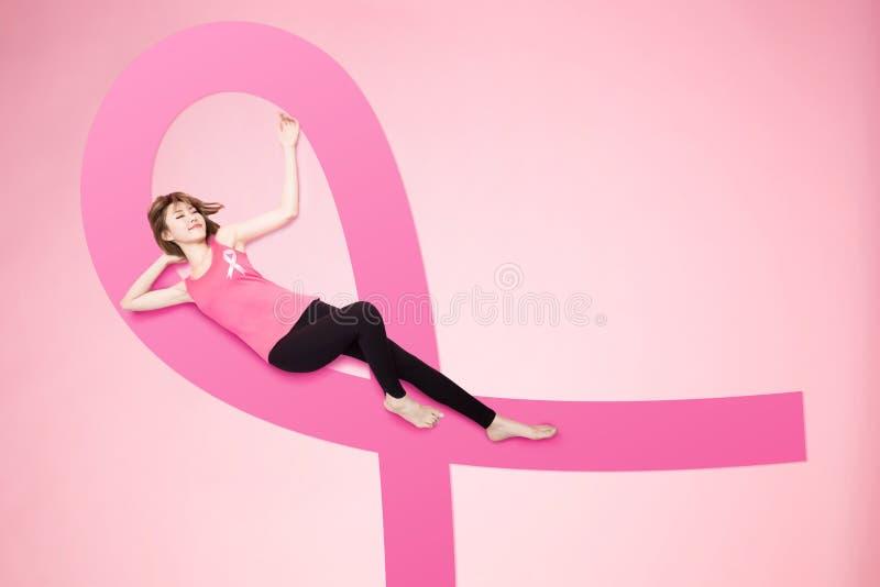 Conceito do câncer da mama da prevenção imagens de stock royalty free