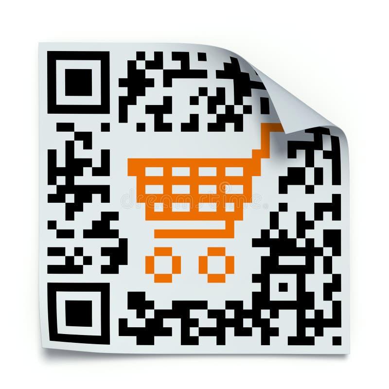 Conceito do código de QR ilustração stock