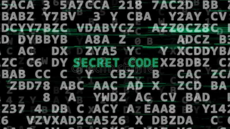 Conceito do código secreto ilustração do vetor