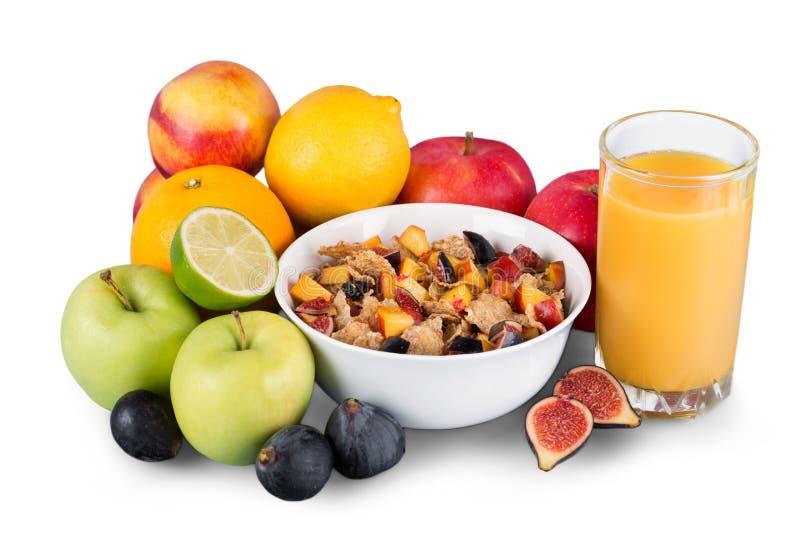 Conceito do café da manhã da perda de peso da dieta com fita imagem de stock