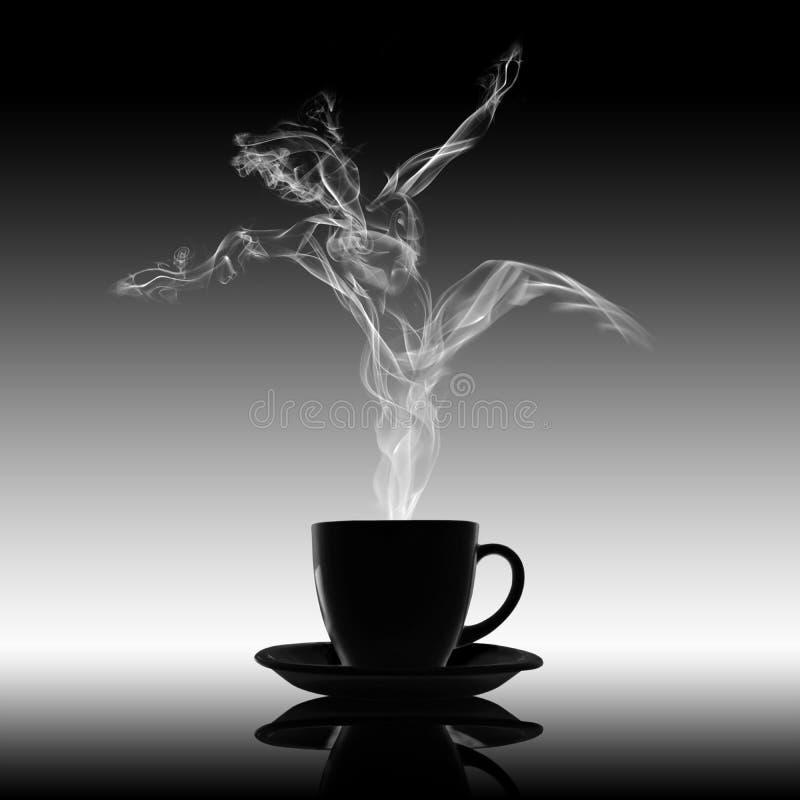 Conceito do café de Danse do prazer do abrandamento do amor ilustração royalty free