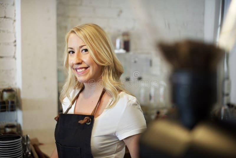 Conceito do café do serviço ao cliente do pessoal de serviço do serviço fotografia de stock