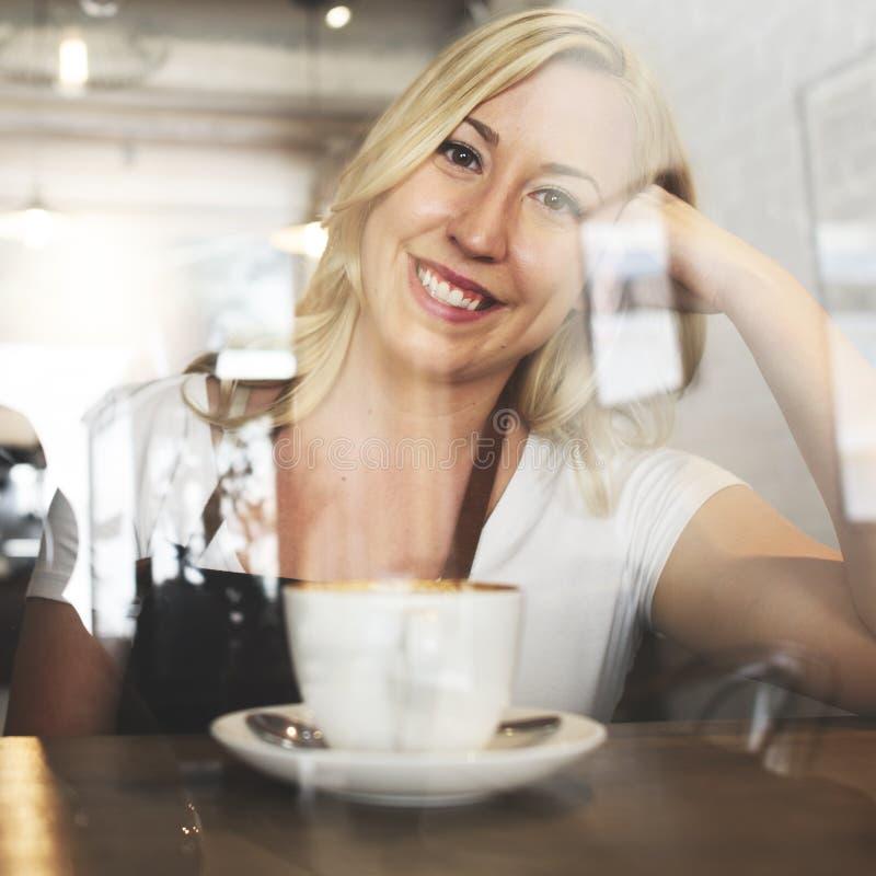 Conceito do café do serviço ao cliente do pessoal de serviço do serviço foto de stock