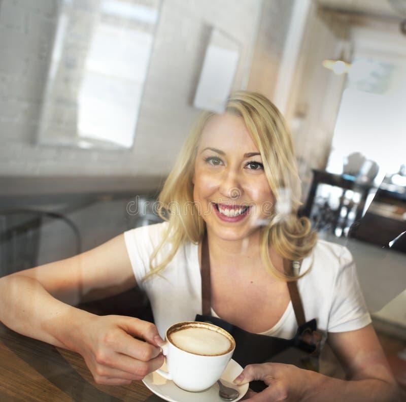 Conceito do café do serviço ao cliente do pessoal de serviço do serviço imagem de stock