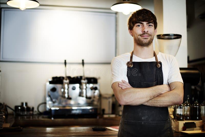 Conceito do café do serviço ao cliente do pessoal de serviço do serviço imagens de stock royalty free