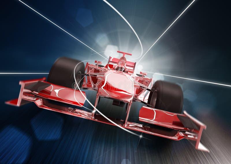Conceito do carro do Fórmula 1 ilustração do vetor