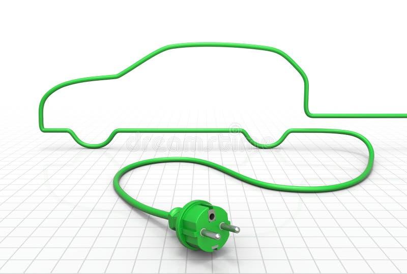 Conceito do carro elétrico ilustração stock