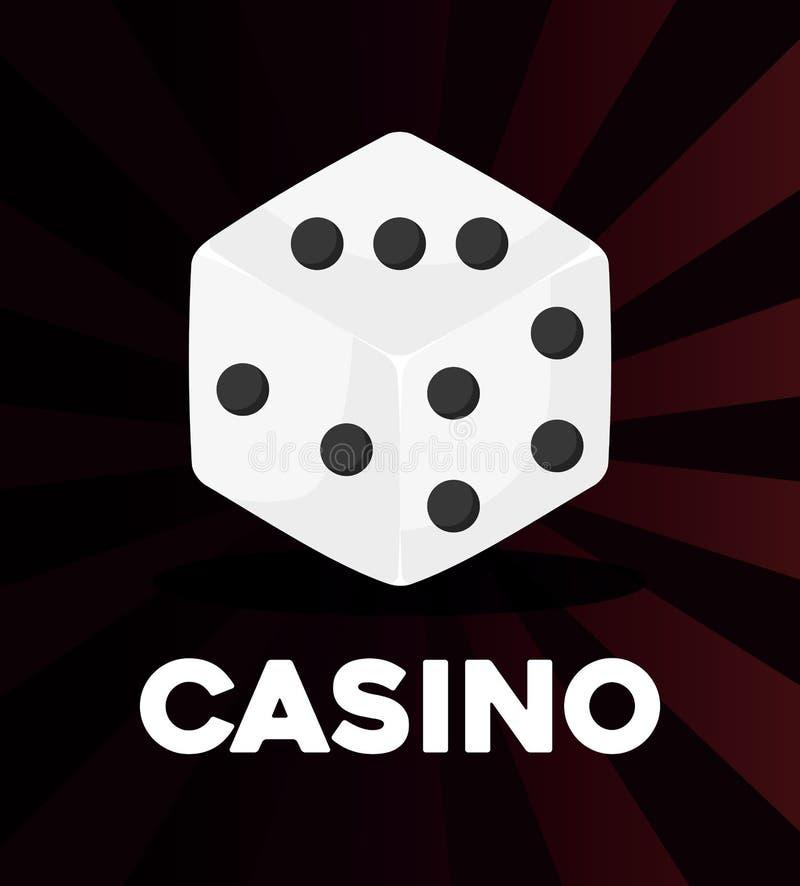 Conceito do casino do jogo ilustração stock