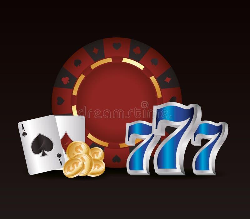 Conceito do casino do jogo ilustração do vetor