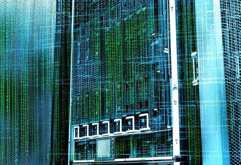 Conceito do centro de dados do armazenamento de disco Tecnologia da informação e base de dados no fundo tecnologico fotos de stock