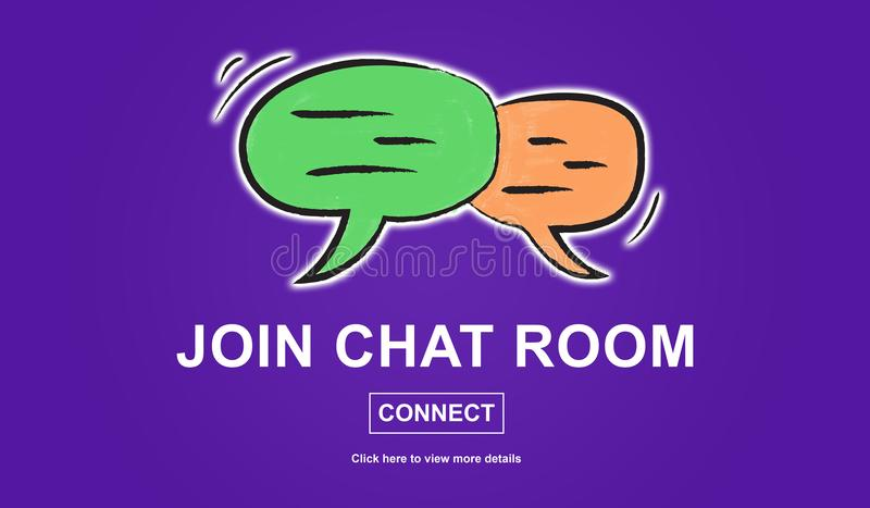 Conceito do chat room ilustração royalty free