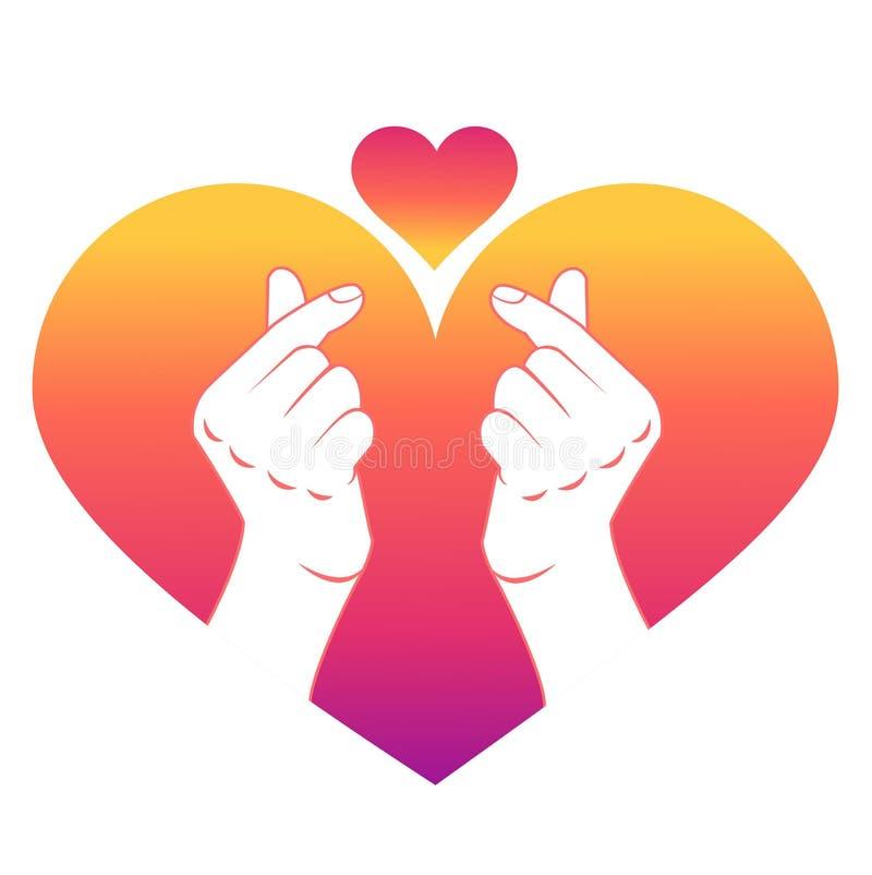 Conceito do clique do amor de um dedo ilustração do vetor