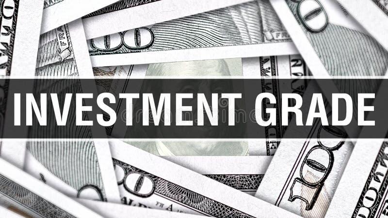 Conceito do close up da categoria de investimento Dólares americanos do dinheiro do dinheiro, rendição 3D Categoria de investimen ilustração royalty free