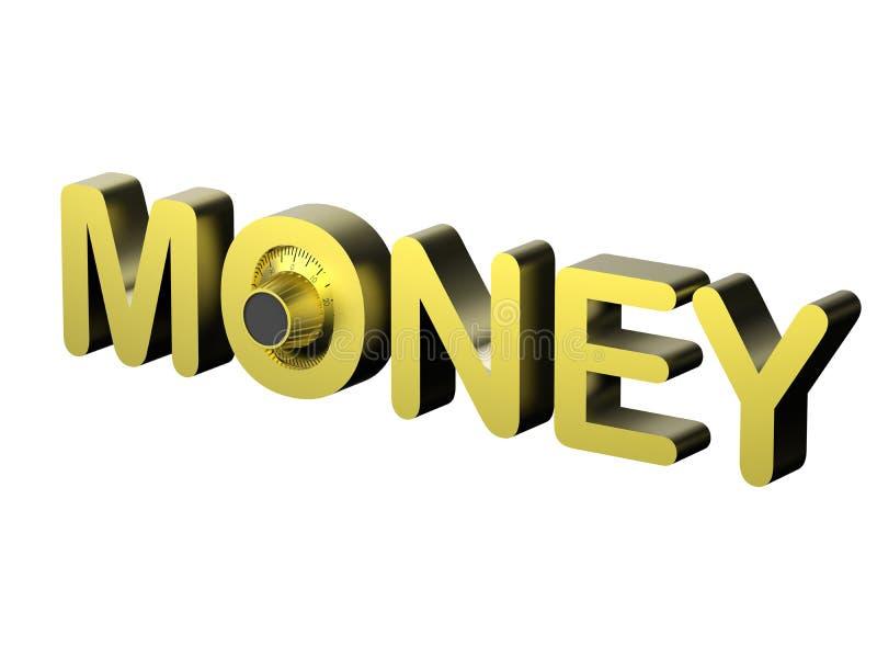 Conceito do cofre forte do dinheiro ilustração royalty free
